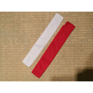 Tournament Tasuki Ribbons (Set Red White)
